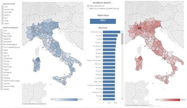 Cartina Italia Javascript.La Prima Mappa Interattiva Della Grande Distribuzione In Italia Italiani Coop